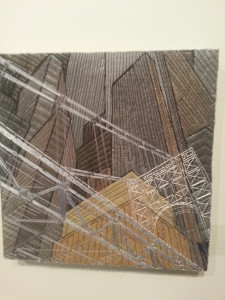 Natalya Aikens' Glass Bridge.  Wonderful use of thread and perspective in this piece, don't you think?