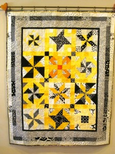 Mary Ann Apgar kept her quilt flat and square, which she learned in the Longarm 101 class.  Congratulations, Mary Ann!