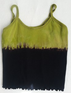 This Shibori Chic camisole was stitched, discharged, and overdyed and is a great project for a 4 hour class.