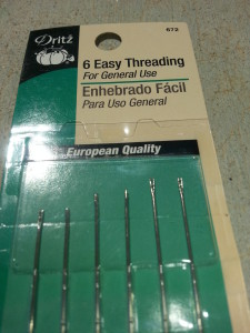 These needles are usually available at local quilt shops and big box craft stores.