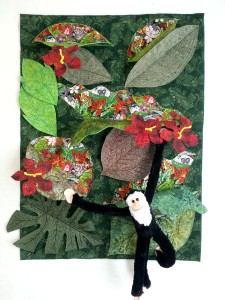 It's a Jungle Out There, 47'' x 33'' x 7'' (you can adjust the size of this quilt easily).