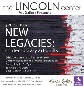 New Legacies 2014 at the Lincoln Center Art Gallery in Fort Collins, CO