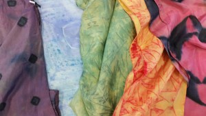 Some new Shibori Chic scarves will be on offer...prices range from $30-$40.