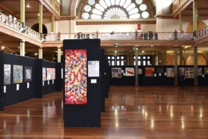 The 2016 Australasian Quiilt Festival venue for SAQA's Food for Thought exhibition.
